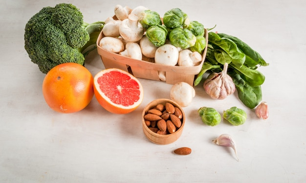 Wybór Produktów Poprawiających Zdrowie I Odporność Premium Zdjęcia