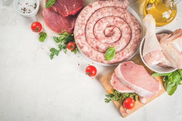 Wybór Surowego Mięsa Premium Zdjęcia