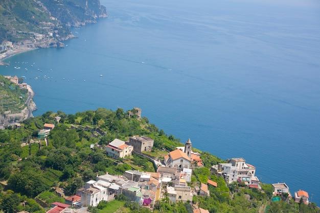 Wybrzeże Amalfi Zatoka Włochy Premium Zdjęcia