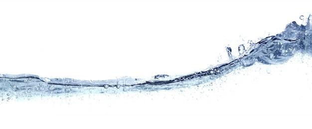 Wyczyść Faliste Wody Samodzielnie Na Białym Tle. Premium Zdjęcia