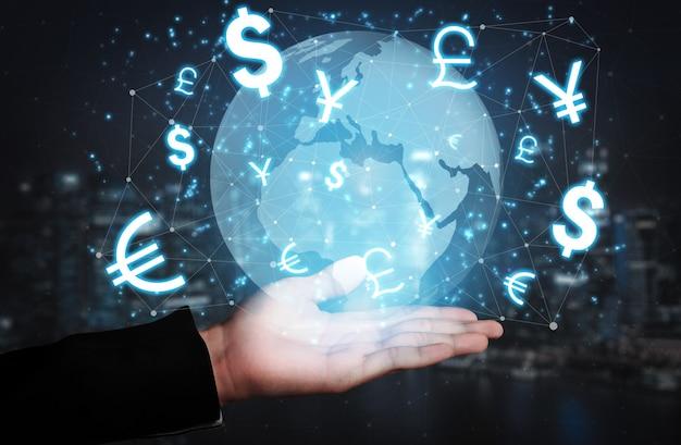 Wymiana Walut Globalne Finanse Zagraniczne. Premium Zdjęcia