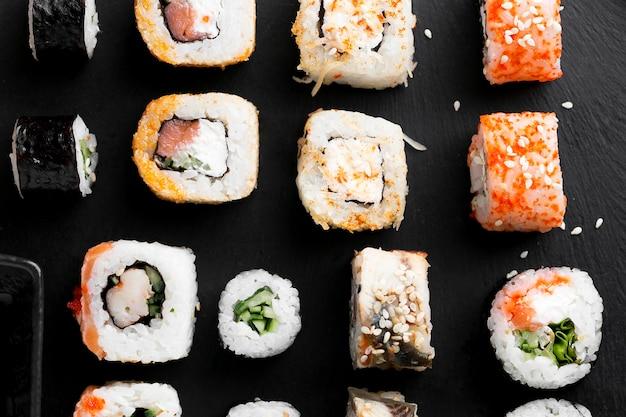 Wyrównane Płaskie Pyszne Sushi Darmowe Zdjęcia
