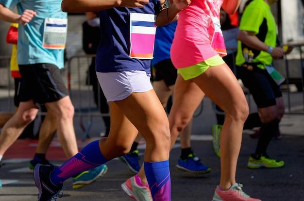 Wyścig maratoński Premium Zdjęcia