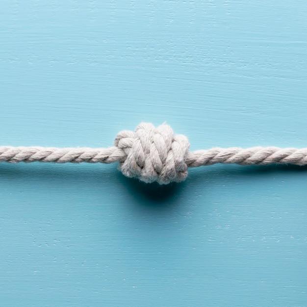Wyślij Białe Liny Z Węzłem Widok Z Przodu Darmowe Zdjęcia