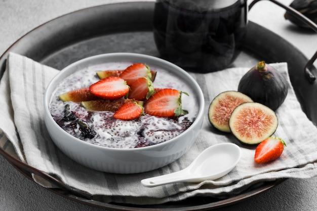Wysoki Kąt Pysznego Zdrowego śniadania Darmowe Zdjęcia