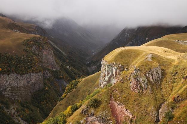 Wysoki Kąt Strzału Obszaru Rekreacyjnego Gudauri W Gudauri, Georgia Darmowe Zdjęcia
