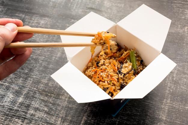 Wysoki widok pyszny azjatycki posiłek Darmowe Zdjęcia