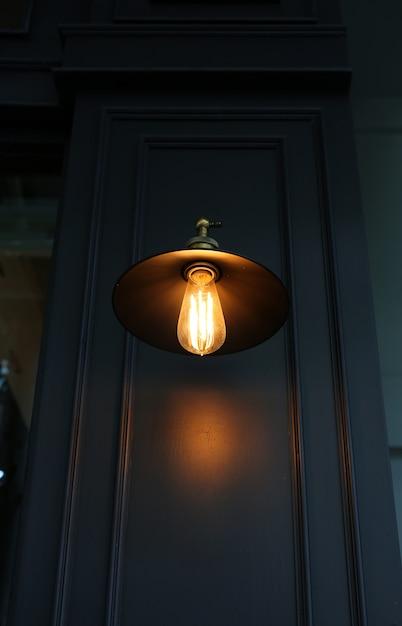 Wystrój oświetlenia w stylu vintage Premium Zdjęcia