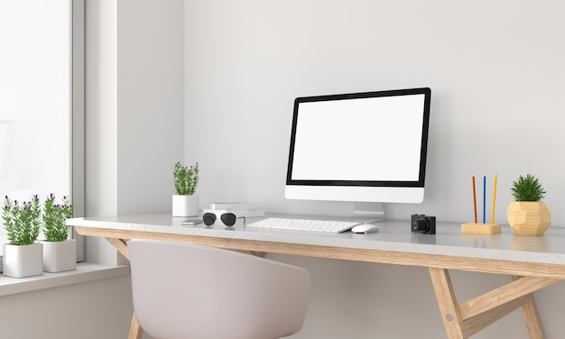 Wyświetlacz komputera dla makiety Premium Zdjęcia