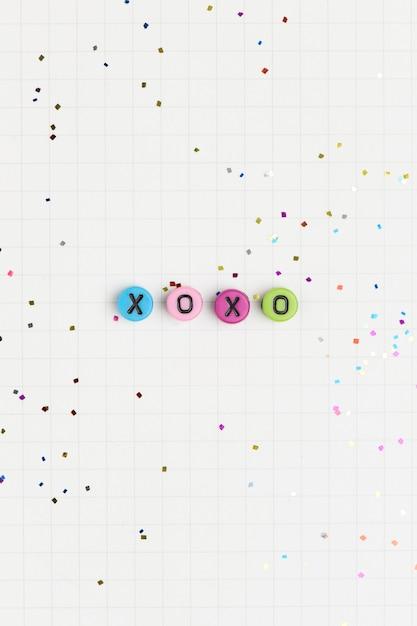Xoxo Alfabet Koraliki List Typografia Darmowe Zdjęcia