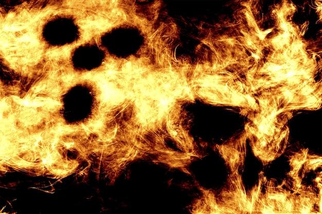 Z Ognia Namalowany Duch Na Czarnym Tle Premium Zdjęcia