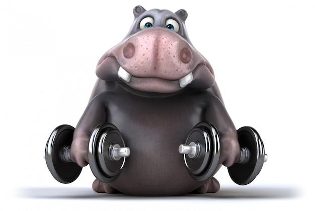 Zabawa Hipopotam Premium Zdjęcia