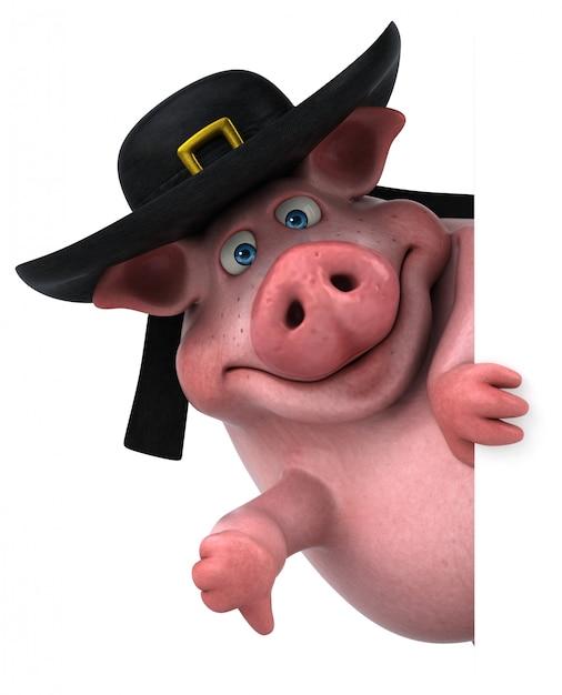 Zabawa świnia - 3d Ilustracji Premium Zdjęcia