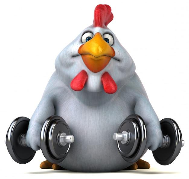 Zabawa Z Kurczaka - Ilustracja 3d Premium Zdjęcia