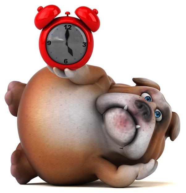 Zabawna Animacja Buldoga Premium Zdjęcia