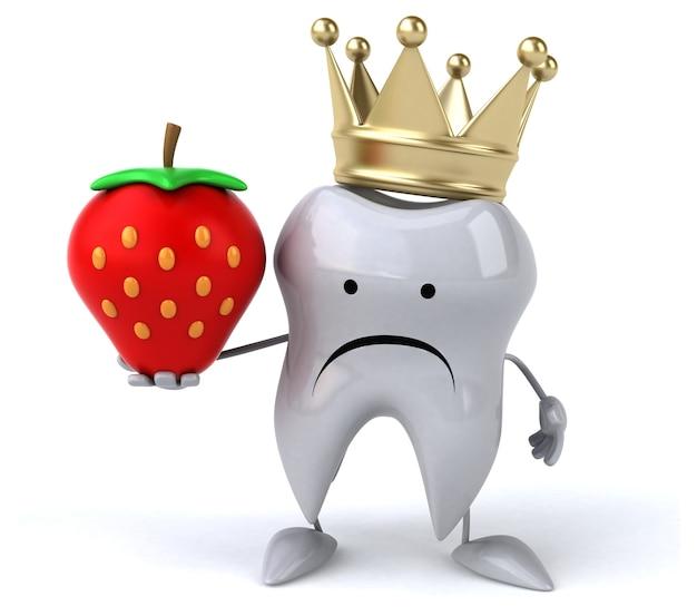 Zabawna Animacja Zębów Premium Zdjęcia