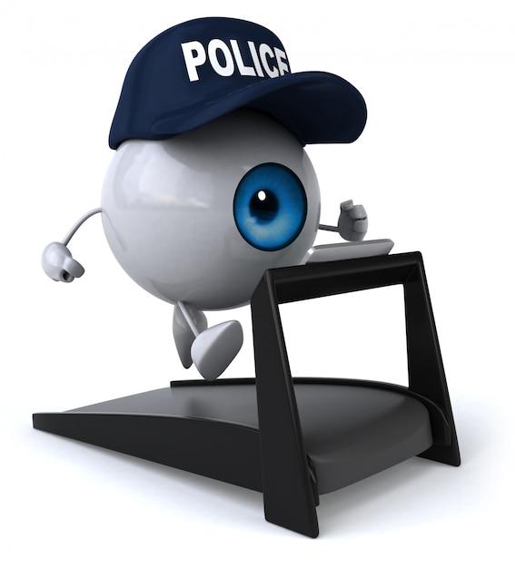 Zabawne Oko - Postać 3d Premium Zdjęcia