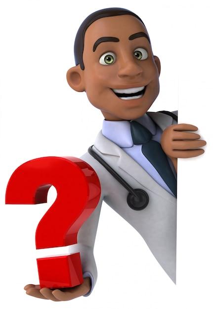 Zabawny Lekarz - Postać 3d Premium Zdjęcia