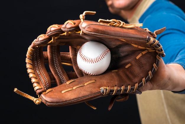 Zakończenie Baseball W Rękawiczce Premium Zdjęcia