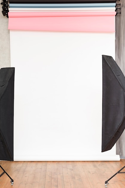 Zakończenie pracowniany tło z światłami Darmowe Zdjęcia