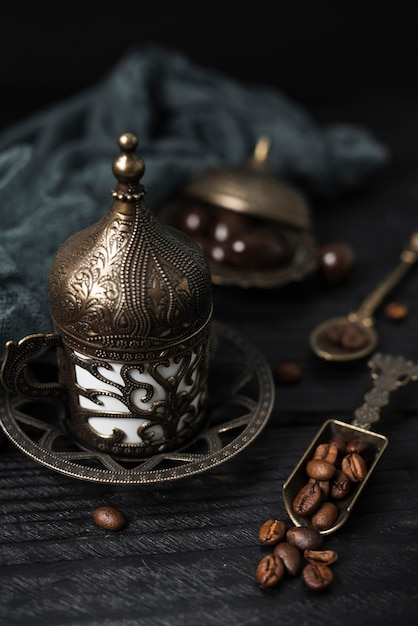 Zakończenie turecka filiżanka kawy Darmowe Zdjęcia