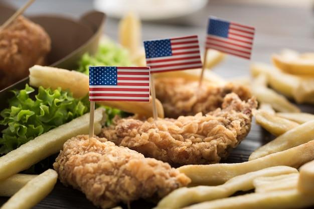 Zakończenie Widok Amerykańskie Jedzenie Darmowe Zdjęcia