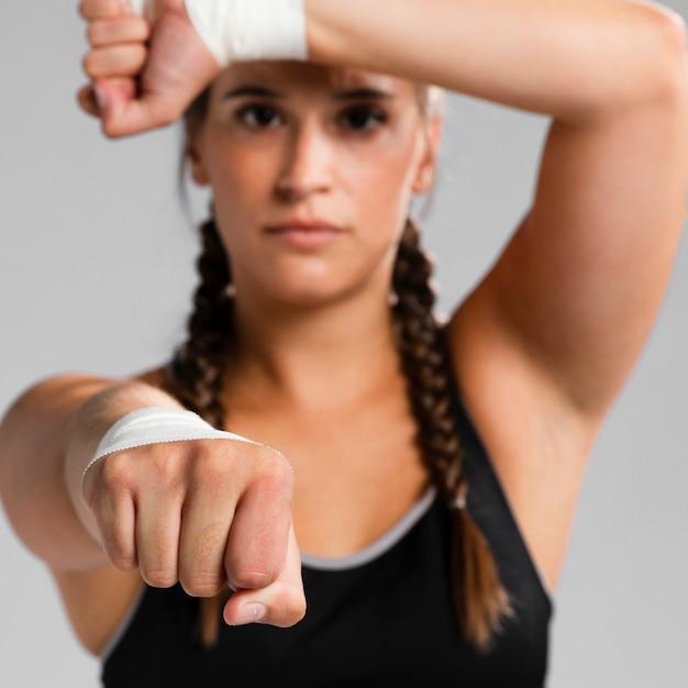 Zakończenie zamazany kobiety ćwiczyć Darmowe Zdjęcia