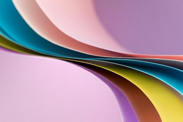 Zakrzywione Abstrakcyjne Warstwy Kolorowych Papierów Darmowe Zdjęcia