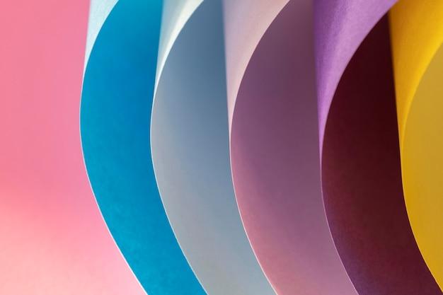 Zakrzywione Warstwy Kolorowych Papierów Darmowe Zdjęcia