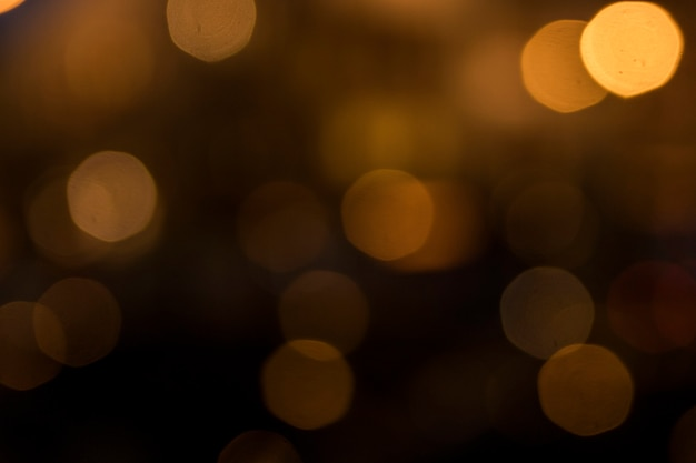 Zamazani Bokeh światła Na Ciemnym Tle Premium Zdjęcia