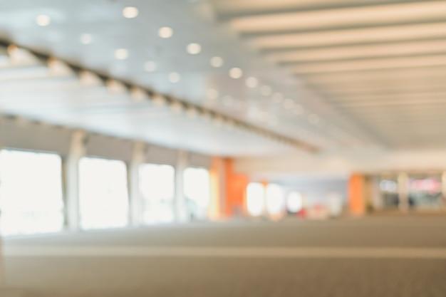 Zamazany Tło Korytarza Lotnisko Lub Zakupy Centrum Handlowego Drogi Przemian Abstrakcjonistyczny Defocused Tło Premium Zdjęcia