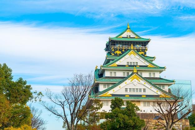 Zamek Osaka W Słoneczny Dzień Premium Zdjęcia