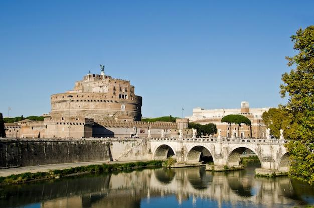 Zamek Sant Angelo W Rzymie, Włochy Premium Zdjęcia