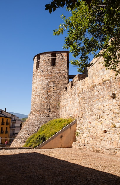 Zamek Templariuszy W Ponferrada, Hiszpania Premium Zdjęcia