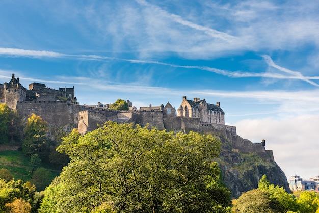 Zamek W Edynburgu, Szkocja, Wielka Brytania Premium Zdjęcia