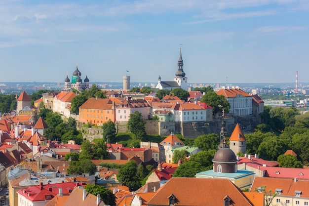 Zamek W Tallinnie Z Wieży Katedralnej Premium Zdjęcia