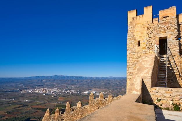 Zamek Xivert W Alcala De Chivert Castellon Premium Zdjęcia