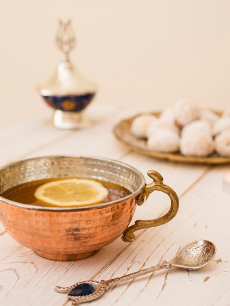 Zamknij Herbatę Obok Ciastek Darmowe Zdjęcia