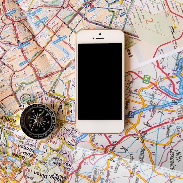 Zamknij Się Tło Mapy Z Telefonu Darmowe Zdjęcia