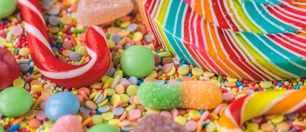 Zamknij Się Z Candy Cane I Lollipop Darmowe Zdjęcia