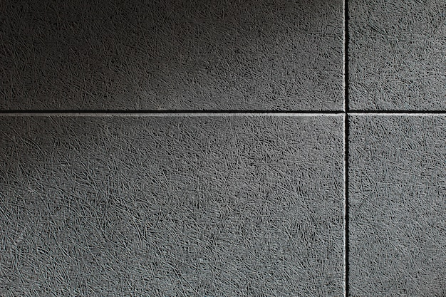 Zamknij Teksturę ściany Z Zamontowanym Na Niej Szarym Panelem Dźwiękochłonnym Premium Zdjęcia