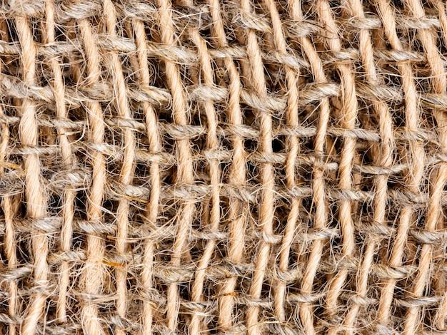 Zamyka Up Burlap Lub Parciany Tekstury Tło Premium Zdjęcia