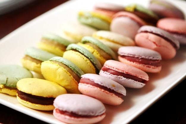 Zamyka Up Macarons Deserowi Darmowe Zdjęcia