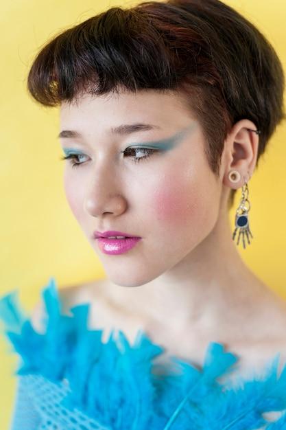 Zamyka W Górę Portreta Elegancki Model Darmowe Zdjęcia