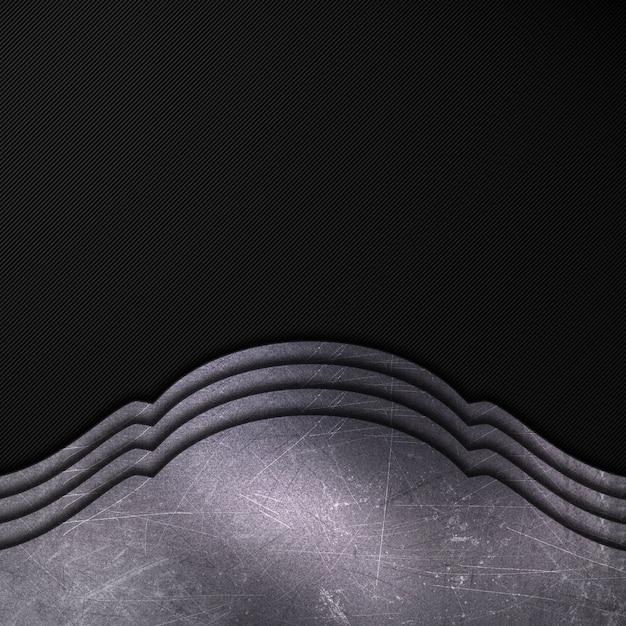 Zarysowany metal na tle ciemnego włókna węglowego Darmowe Zdjęcia