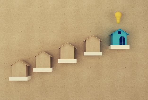 Zarządzanie Finansami: Dom I Finanse Oszczędzają Pieniądze Na Pobyt. Inwestycje W Nieruchomości Nieruchomości I Hipoteka Mieszkaniowa Premium Zdjęcia