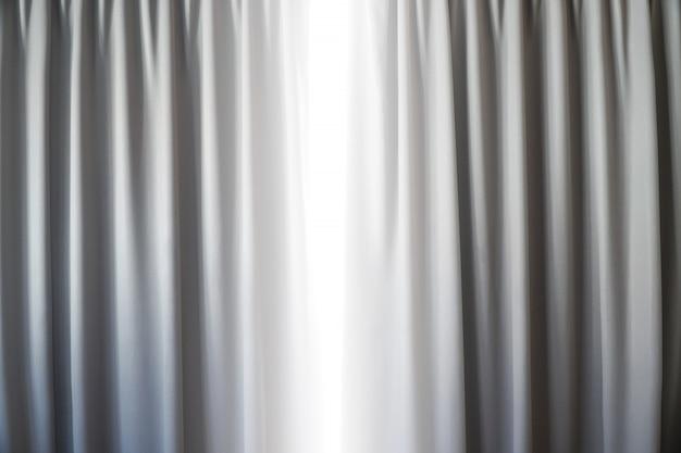 Zasłony Dekoracja Wnętrz W Salonie Z Promieni Słonecznych Na Tle Okna Premium Zdjęcia