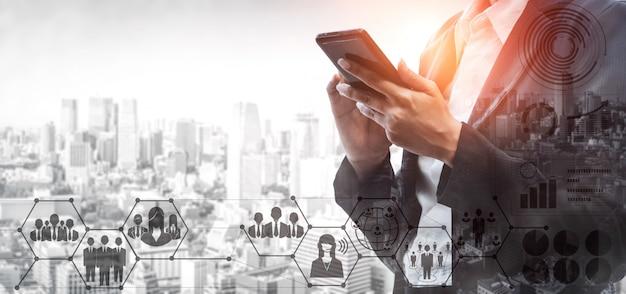 Zasoby ludzkie i ludzie networking concept Premium Zdjęcia