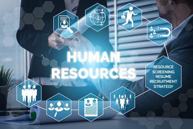 Zasoby Ludzkie I Ludzie Networking Tło Premium Zdjęcia