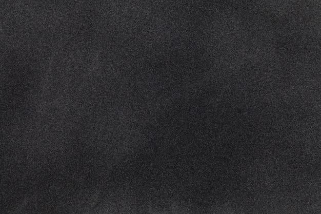 Zbliżenie Czarne Zamszowe Tkaniny Premium Zdjęcia